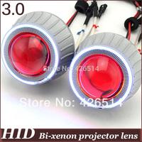 3 inch bi xenon car les 35w 3400lm H1 H4 H7 H11 9005/6 Bi-xenon  Projector Lens kit CCFL Angel Eye Devil Eye for auto headlight