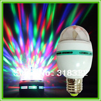 3W RGB LED Party Light Dance Party Lamp Holiday Lights colorful dance party bulb E27 AC85-265v ,Free Shipping