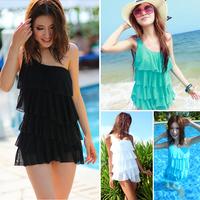 Hot spring swimwear women one oblique shoulder swimsuit one piece swimsuit none layered swimwear plus size women swimwear YY-005