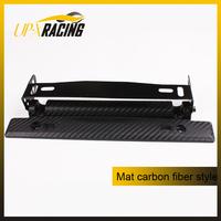 auto universal Matt carbon fiber style adjustable number plate car license plate frame Registration Plate Holder