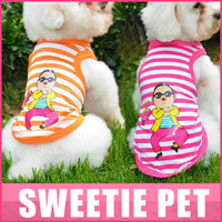 Free Shipping  PSY JIANGNAN style Pet Dog vest  teddy dog clothes dog  summer vest  2 colors