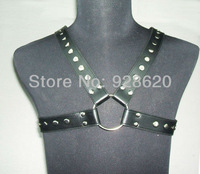 New Arrival Men leather body harness Adjustable Size Leather SEXY CHEST STRAP HARNESS GAY Goth Biker Fasc Bond