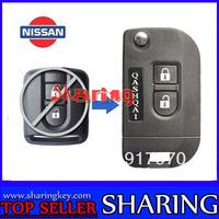 Free shipping 2 Buttons Flip Remote Key Shell Case Modify Nissan  Qashqai key