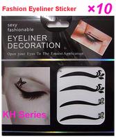 KH Series- Wholesale Vintage Temporary Tattoo Eye Liners Sticker Shadow Smoky Eyes Shadow Eye liner 40pair