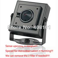 "Sens-Up(X1024) 1/3"" SONY 960H EXview HAD CCD II 700TVL super low light 0.0003Lux Mini hidden metal square Camera ,Real-WDR/OSD"
