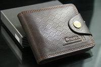 WBG0449 2014 new designer fashion style genuine+PU Leather bag brand men wallets handbag purse free shipping