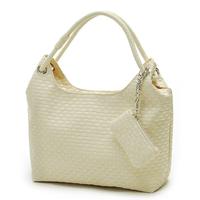 LUCKY ORANGE Handbag Woven Chain Drawstring Summer Leather Shopping Bag Hobo Shoulder Bag Women + Purses Wholesales