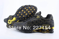 hot selling shox Monster designer shoes black&gold,shoes training sports shoes sneakers,men Shoes In Top  Leather