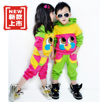 1set KIDS Children's clothes sports suit for spring and autumn boys and grils children clothing set c0075