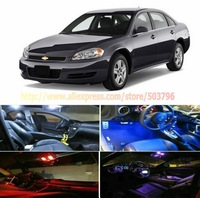 Free Shipping  5 Lights LED Interior Package Combo Kit Deal High Power LED Dome Lights For Chevy Impala 2006-2012