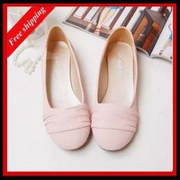 gentlewomen candy boat shoes round toe flat-bottomed single shoes women's 2014 new hot selling