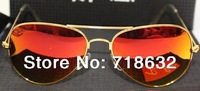 Supper star Glass lenses sunglasses UV protection Aviator sun glasses high quality uv 400 protection Excellent Quality