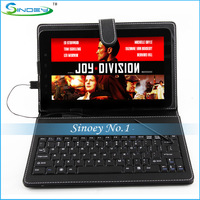 "FreeShipping Sample 7""8""9""9.7""10 inch tablet leather keyboard case with stand usb mini micro Port Suit for Android Tablet"