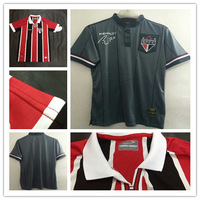 2014 Brazil Club Sao Paulo FC home whtie away red black jerseys Luis Fabiano kaka Ganso soccer jerseys