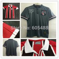 Top A+++ camiseta  Sao Paulo FC 2014 home whtie away red black jerseys Luis Fabiano kaka Ganso soccer jerseys
