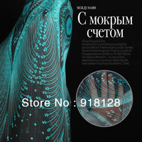 Fashion 2013 Spring and Summer Silk Chiffon Mulberry Silk Fabric Expansion Bottom for Dress Peacock Wide Pattern