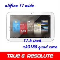 New Arrival Allfine 11 Wide 11.6 Inch Big Screen RK3188 Quad Core 2G/32G Android 4.2 Screen Resolution 1366*768 Tablet PC