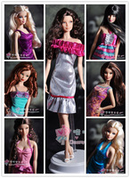 Free Shipping Dolls Party Dress Gown Skirt Nice Clothes For Barbie Dolls 8 Style 8 pieces/lot