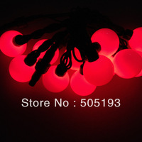 Праздничное освещение Outside Christmas Green Color 5M 50 Led Ball String Holiday Night Lights+ Power Plug