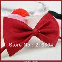 Free shipping 100pcs/lot Dog neck tie Dog bow tie Cat tie Pet Grooming Supplies Pet Headdress Bowtie Necktie 15 colors