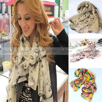 2014 fall autumn new Fashion style woman 100% silk chiffon Sexy Marilyn Monroe Scarf Sacrves Wholesale Free Shipping