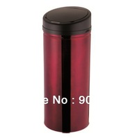 50litre Burgundy- Infrared  electronic sensor touchless automatic dustbin- trash can-2pcs/lot