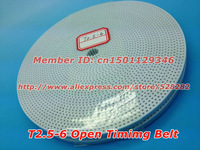 Wholesale T2.5 timing belt  width 6mm 50meters/volume for RepRap Prusa Mendel, Huxley, CNC, Robotics