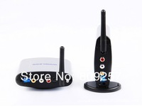 Free Shipping 2.4Ghz Wireless A/V Transmitter Receiver Audio and Video Wireless Sender TV Receiver Share w/ IR Remote Extender