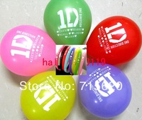 38pcs One direction Party Gift Favor Jewelry, 30pcs one direction balloons + 8 1d silicone bracelets Wholesale Jewelry Lots Mix