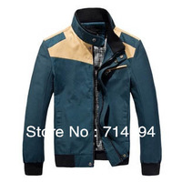 Free Shipping 2013 Hot Men's Jackets Korean version insert-colored jacket Cotton casual Three-color Size:L-3XL HB-602