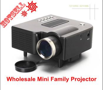 New !! Wholesale Mini AV LED Digital Video  Projector  Native 320X 240 Multimedia player