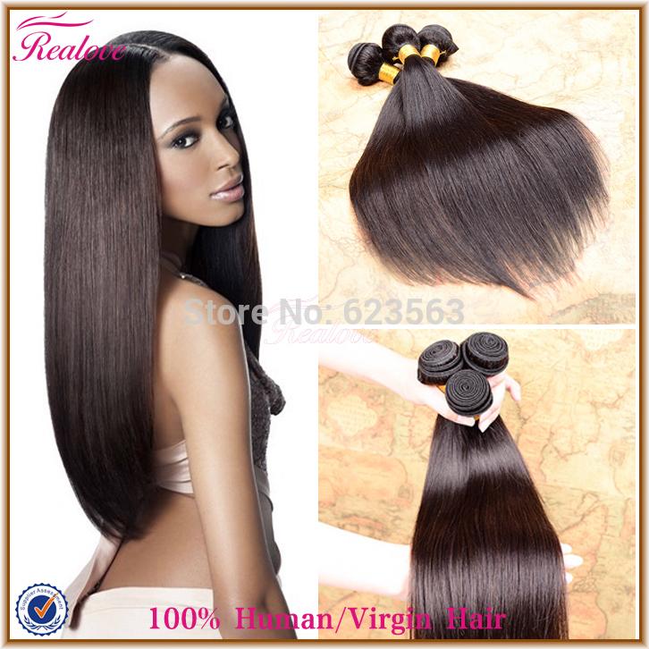 "Brazilian Virgin Hair Gaga Hair 3pc 8""-30"" Realove Brazilian Straight Hair Extension 5A Cheap Human Hair Weaves For your nice(China (Mainland))"