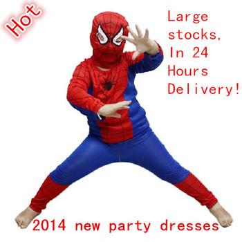 Autumn children Superman Spider-man Batman clothes set kids sports suit costume boys girls clothing set meninas vestir dress