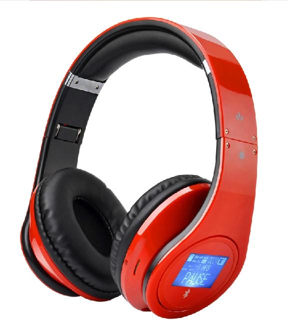 Bluetooth Headband Folding Headset Wireless Headphone Portable with Mic Stereo MircoSD TF Card Mp3 Player Base LCD FM Suobo K33(China (Mainland))