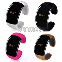 High Quality LED Smart Watch Bluetooth 3.0 Bracelet Wristwatch Smartwatch + caller ID display+anti-lose+answer/hang up call b6