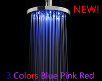 Wholesale 10PCS/Lots Round LED Shower head,LED Shower,Shower Head,LED Rain Shower.