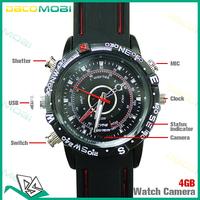 By DHL 2014 4GB Wrist Watch Hidden Camera DV Waterproof Mini Camcorder 20Pcs/Lot DHL Free Shipping