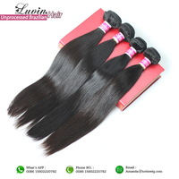 Ms Lula Hair Products Brazilian Virgin Hair Straight 3 PCS Lots 100% Unprocessed Human Hair Weft Weave Free Shipping