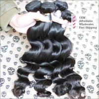 Rosa Hair Products 3Pcs Lot Brazilian Virgin Hair Loose Wave 100% Human Hair Weaves Wavy Unprocessed Free Shipping