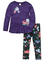 Girl's Spring/Autumn Long Sleeve Casual Tshirt Sets Cartoon Tee Set, 100% Cotton, 6 Sizes for 1-5 years - JBLS36/41/82/83/92/97