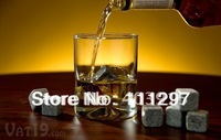 2015 free shipping 1200pcs (150 sets) 8pcs velvet bag  whisky rocks,whiskey stones,beer stone,whisky ice stne,wine stone,