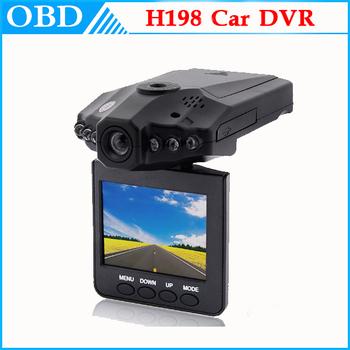 "H198 Car DVR Vehicle Camera with 2.5"" LCD 270 Degree 6 IR LED Car Camera Drop Shipping"