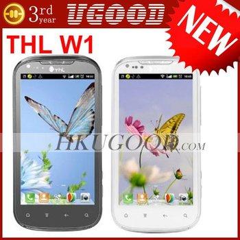 "New Arrival THL W1+ 3G WCDMA Android 4.0 Dual Sim 4.3""QHD CPU MT6577 1.0GHz Unlocked Smartphone"