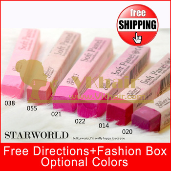 6 colors/set FREESHIPPING Top Quality hair chalk Temporary Hair Color Pastel  With Fashion Box 70 color for u choose. 120pcs/set