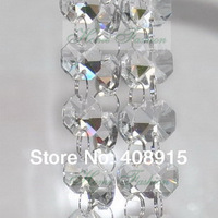 Wedding Cake Decorative Crystal Garland/Strand 10 meters/lot, 14mm Octagon Crystal Beads connected with 11mm rings, freeshipping