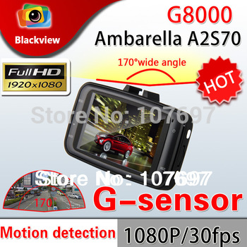 Ambarella G8000 CAR DVR Camera 2.7 inch LCD Screen Full HD 1080P 5M COMS Sensor 170degree lens with G-sensor vehicle DVR