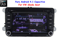 Capacitive Pure Android 4.1 VW Car DVD GPS Car PC Headunit for VOLKSWAGEN BORA POLO CADDY PASSAT CC TIGUAN JETTA SCIROCCO SHARAN