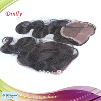 Free shipping body wave Brazilian hair Closure ; Top closure ; Lace Closure