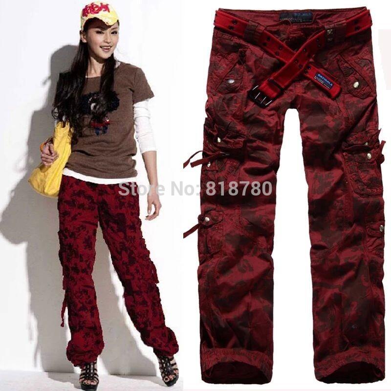 Des femmes des femmes des vêtements de camouflage pantalon cargo filles. harem danse hip hop costume kaki pantalon baggy pantalon décontracté 21 taille plus