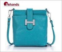 2014 Best Seller Genuine Leather Handbag Fashion Hasp Shoulder Bag 6 Colors Cross-body Purses BH136